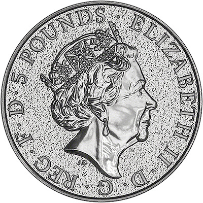 2017 Silver Two Ounce Bullion Queen's Beasts Griffon Obverse