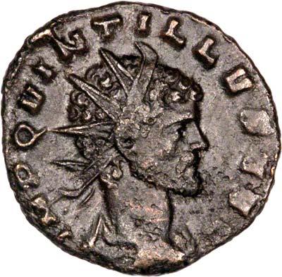 Obverse of Quintillus Antoninianus