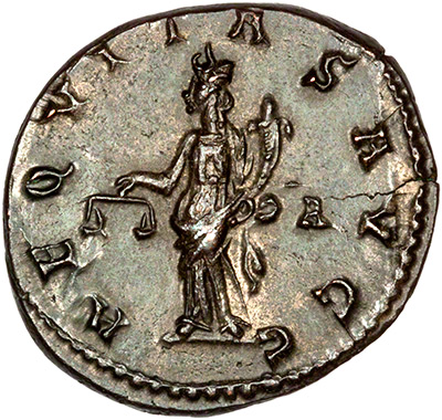 Reverse of 283-285 Carinus Antoninianus