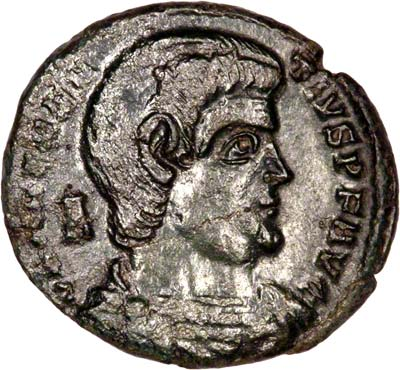 Obverse of Magnentius Cent