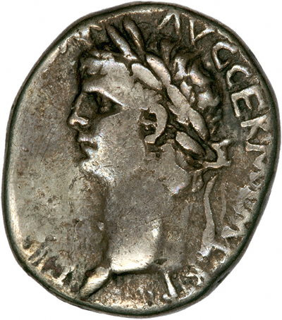 Portrait of Claudius I on a Didrachm