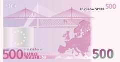 Back of 500 Euro Banknote