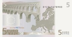 Back of 5 Euro Banknote
