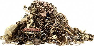 Pile Of Scrap Gold