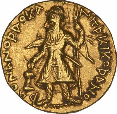 Obverse of Kushan Gold Stater
