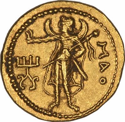 Reverse of Kushan Gold Stater