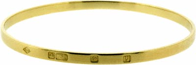 Second Hand Bangle in 18ct Gold