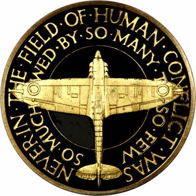 Reverse of Gold Battle of Britain Medallion