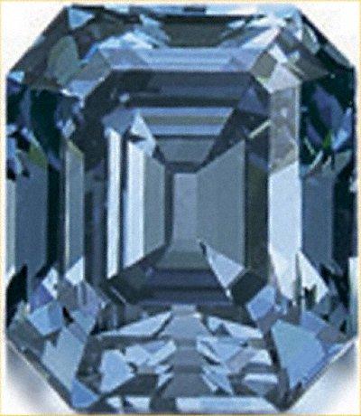 Octagonal Blue Diamond
