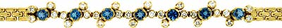 Fancy Diamond and Topaz Bracelet in 18ct Yellow Gold