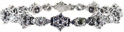 Fancy Diamond Bracelet in 18ct White Gold