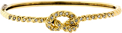 Diamond Set Knot Bangle