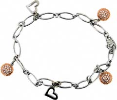 Second Hand 18ct White and Rose Gold Bracelet