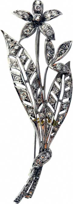 Previously Owned Diamond Flower Brooch