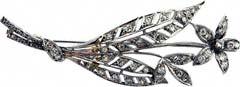 #1806 Diamond Flower Brooch