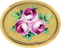 Enamelled Flower Brooch