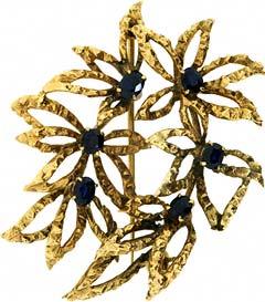 Second Hand Sapphire Brooch