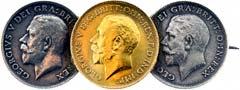 Three Coin Brooch