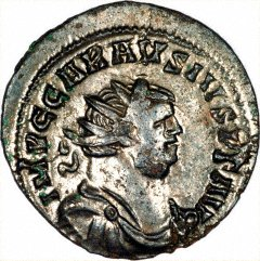 Portrait of Carausius on an Antoninianus