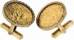 1964 Gold Sovereign Cufflinks