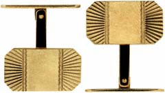 H.G & S Swivlink 9ct Gold Cufflinks