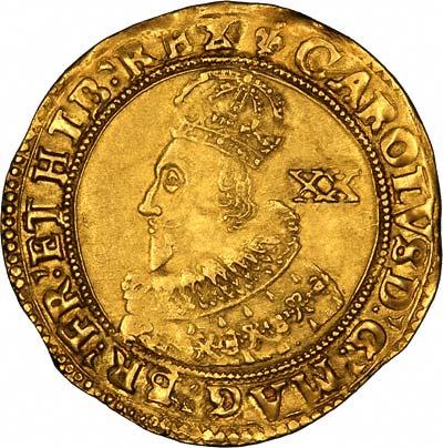 Charles I Unite Obverse