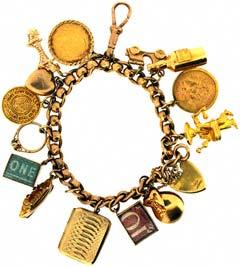 Gold 'Holiday' Charm Bracelet