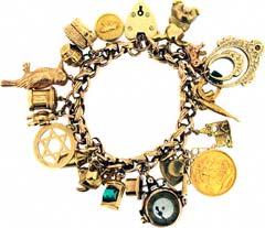 Gold 'Kookaburra and Sovereign' Charm Bracelet