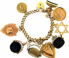 Gold 'Chunky Charms' Charm Bracelet