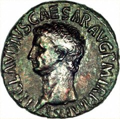 Portrait of Claudius I on a Bronze As