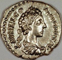 Portrait of Commodus on a Silver Denarius