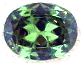 1.21 Carat Oval Demantoid Garnet