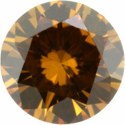 Modern Brilliant Cut Cognac Diamond