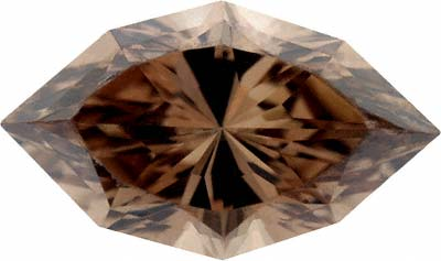 Natural Brown Fancy Marquise Shaped Diamond