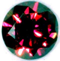 Round Brilliant Natural Red Diamond 0.34ct