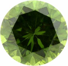 Modern Brilliant Green Diamond