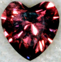 Natural Red Heart Shaped Diamond