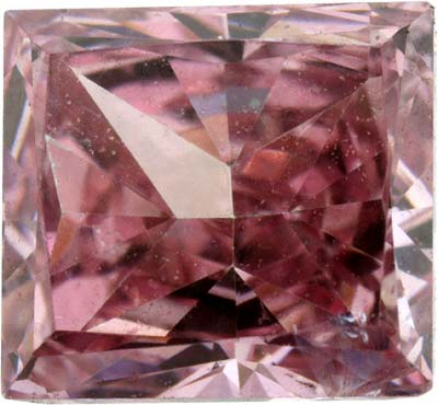 Princess Cut Treated Pink Diamond 0.50 Carats