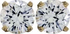0.98ct Diamond Ear-Rings