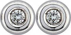 0.12ct Diamond Ear-Rings in 18ct White Gold