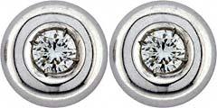 0.12ct Diamond Ear-Rings