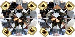 0.65cts Diamond Ear-Rings