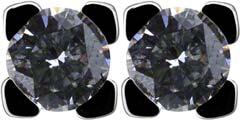 Claw Set 0.32ct Diamond Ear-Rings