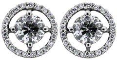 Diamond Set Ear-Rings in 18ct White Gold