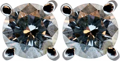 0.59ct Diamond Ear-Rings in 18ct Yellow Gold