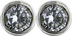 Rim Set 0.43ct Diamond Ear-Rings