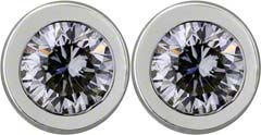 Rim Set 0.41ct Diamond Ear-Rings