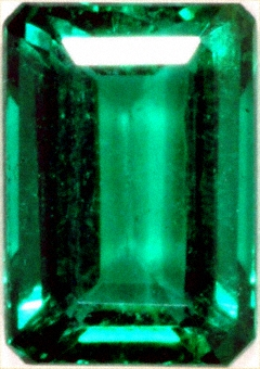 Octagonal or Emerald Cut Emerald