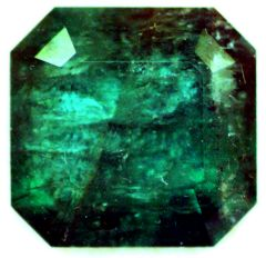 Large Square Cut Cornered Emerald