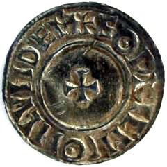 Reverse of Ethelred II Silver Penny Small Cross Reverse Type